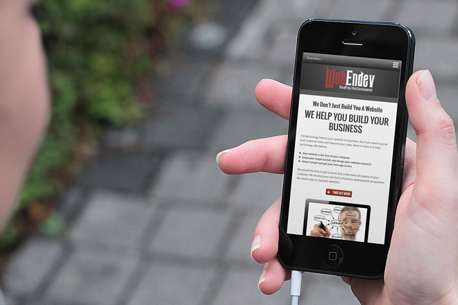 WebEndev on iPhone - Reponsive Web Design