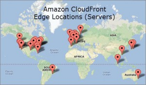 CDN Map Amazon CloudFront