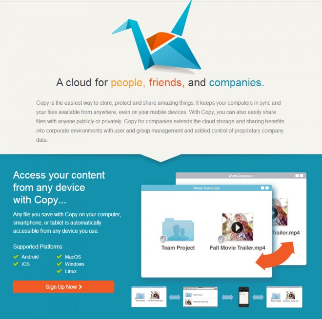 Copy: Cloud File Backup and Sharing With Free Storage